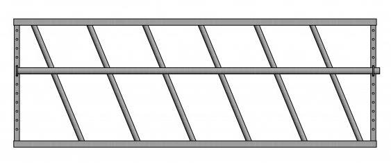 Drabiny paszowe wykonane z rur o przekroju 40 mm i 50mm