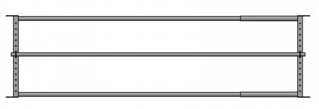 Drabiny paszowe wykonane z rur o przekroju 60 mm i 50 mm