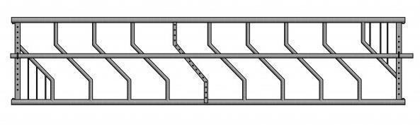 Drabiny paszowe premium wykonane z rur o przekroju 60 i 50 mm