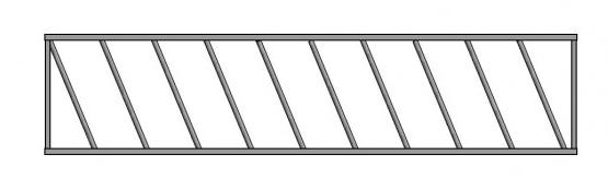 Drabiny paszowe wykonane z profilu 50x50 mm i rury 40 mm