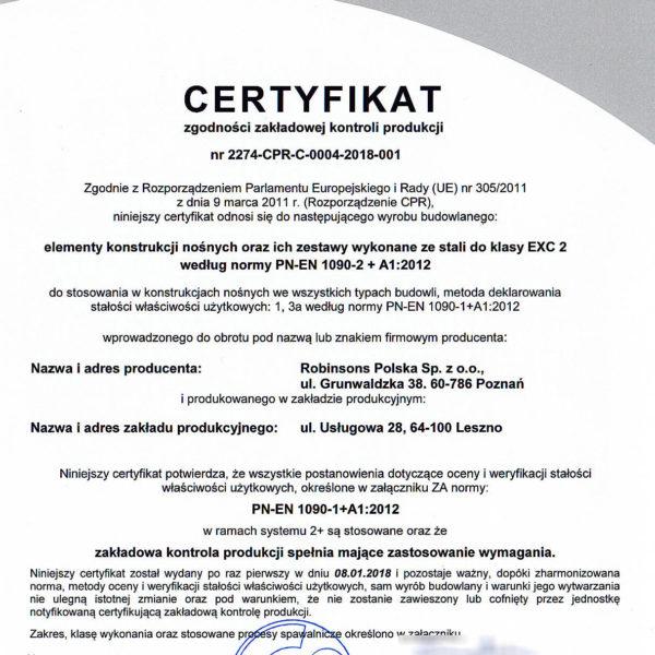 Certyfikat ZKP